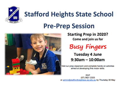 Prep session- Busy Fingers