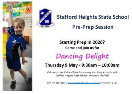 Pre-Prep Session - May 9th - Dancing Delight 9:30-10:00am